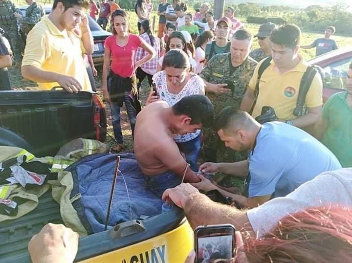 Jóvenes fueron atacados por abejas en el Cerro Memby