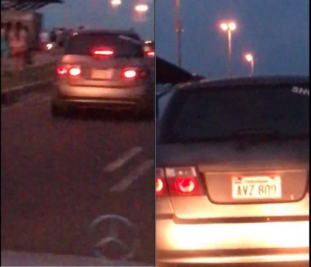 La denunciante persiguió al coche del agresor y logró captar el número de su chapa.