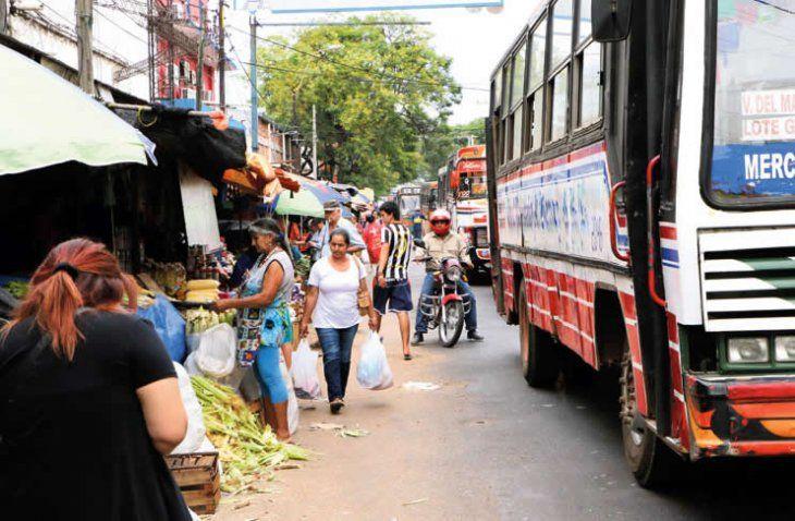 Popular mercado de San Lorenzo.