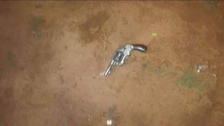 Este es el revólver que fue incautado del poder del suboficial Dionisio Rodríguez.