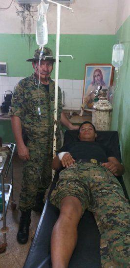 El suboficial Joel Solalinde Figueredo resultó herido durante el procedimiento.