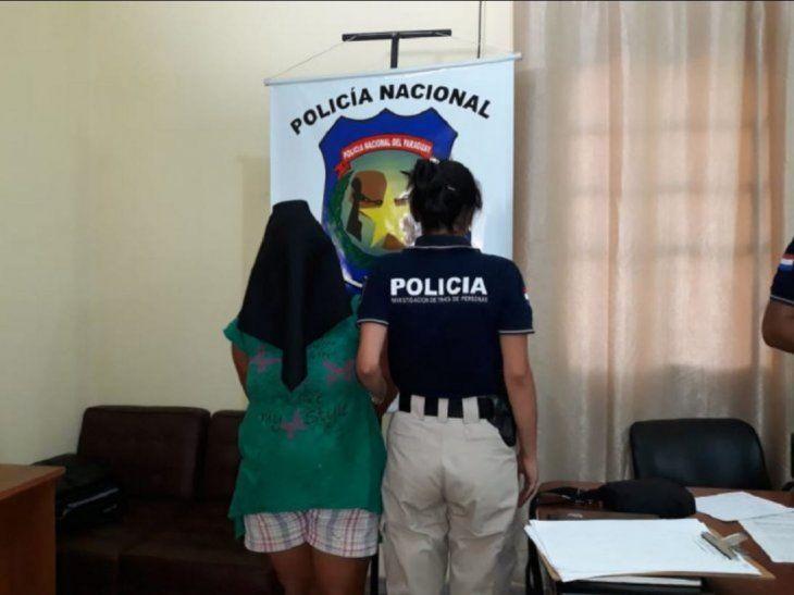 La mujer fue detenida en un operativo realizado en Hernandarias