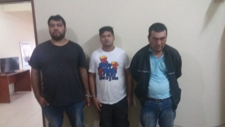 Los tres detenidos quedaron a disposición del Ministerio Público.