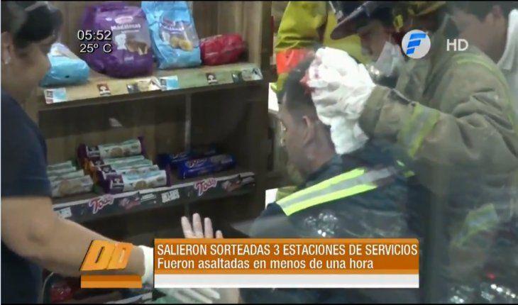 En menos de una hora asaltaron tres surtidores de Fernando de la Mora