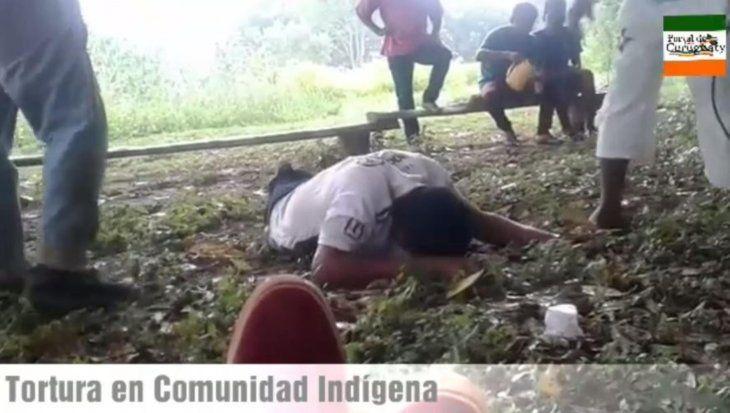 Torturan a un indígena y graban el momento de terror