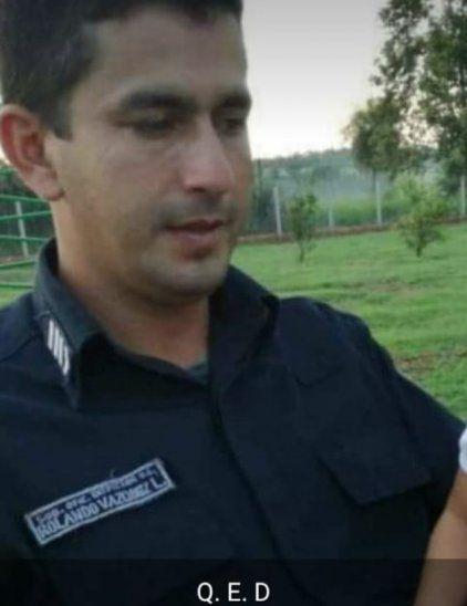 Suboficial Rolando Diosnel Vázquez.