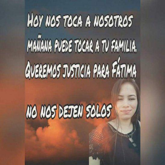 Los familiares claman justicia por la muerte de la joven Fátima.