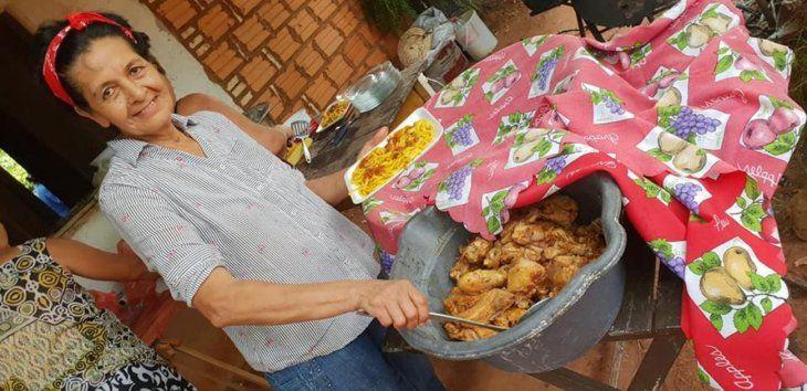Luchadora.  Pánfila Velázquez lucha contra el cáncer y hace karu guasu en honor a San Blas.