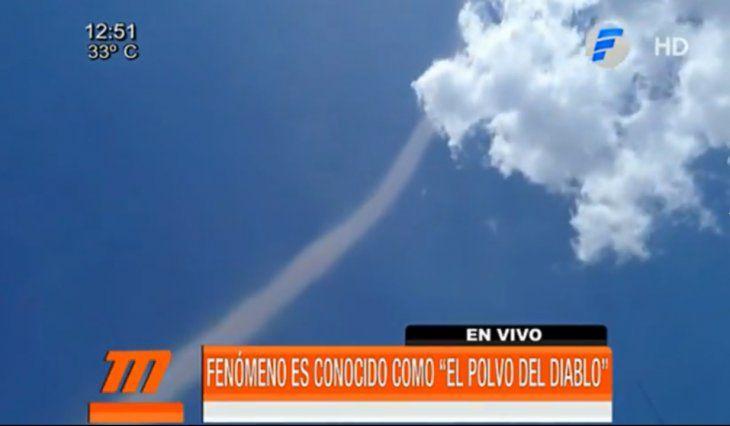 Polvo del diablo asustó en Alto Paraná