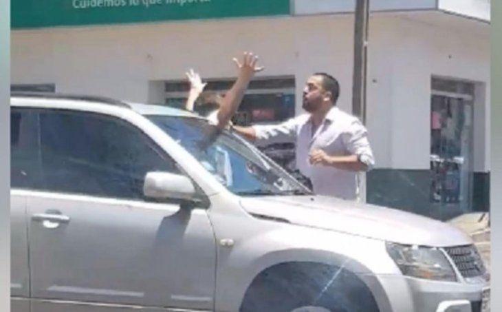 Graban moquete en el tránsito en Asunción