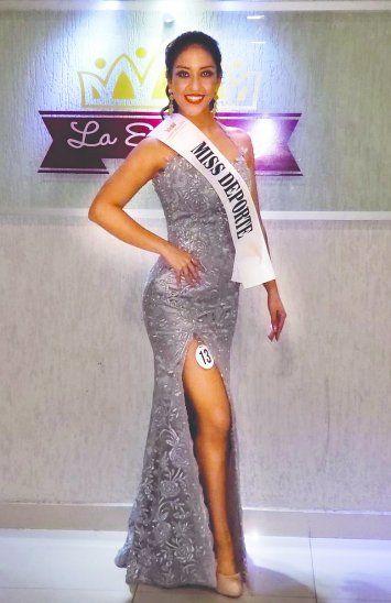Bella deportistaIsabel fue la ganadora del título de Miss Deporte luego de haber bajado 14 kilos.