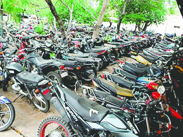 fiscalía:Las motos que están en la Agrupación Ecológica