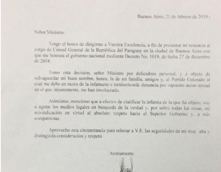 Renunció el cónsul acusado de acoso sexual