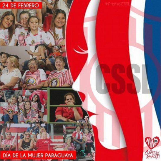 Clubes saludaronn a la MUJER PARAGUAYA
