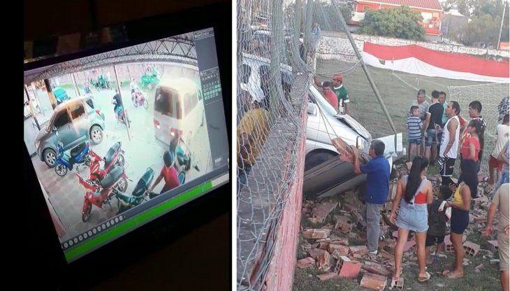Los destrozos fueron captados por cámaras de seguridad de la zona.