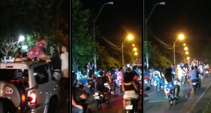 Secuencia de una de las filmaciones de cuando pasaba la caravana