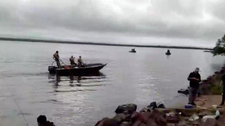 Momento en que empezaban los incidentes entre militares paraguayos y pescadores argentinos