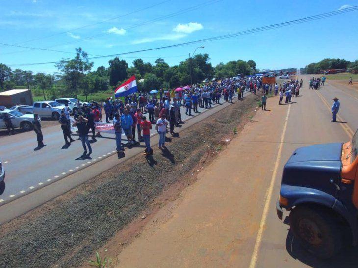 Protestas iniciaron el lunes pasado.