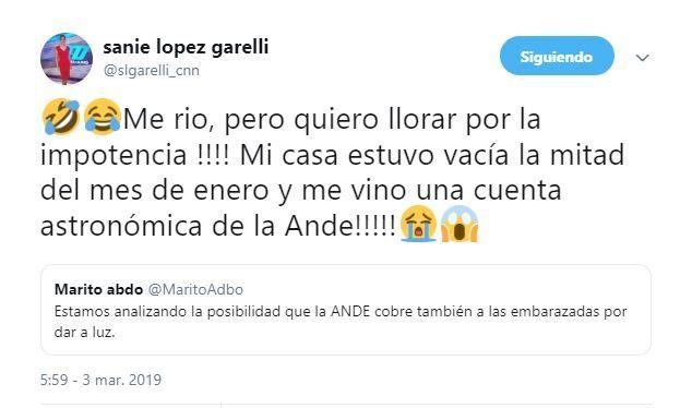 El tarifazo de la ANDE no perdona ni a los famosos
