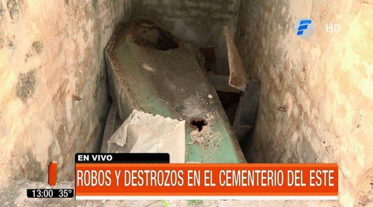 Ni los muertos descansan: robaron tumbas en el cementerio del Este