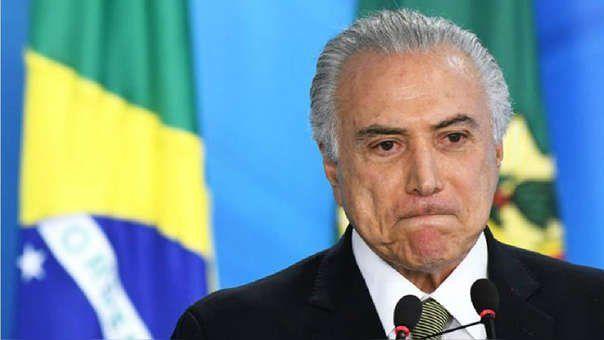 Michel Temer fue aprehendido en Sao Paulo y sería llevado a Río de Janeiro.