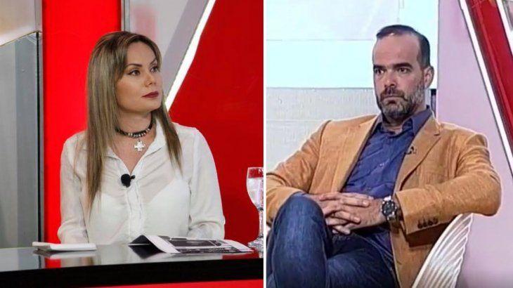 Tenso momento entre Dahiana y Álvaro Mora