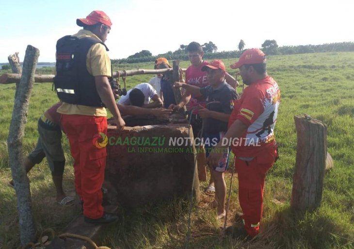 Bomberos rescataron el cuerpo ya sin vida.