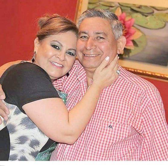 Juan Celso Urunaga y su esposa.