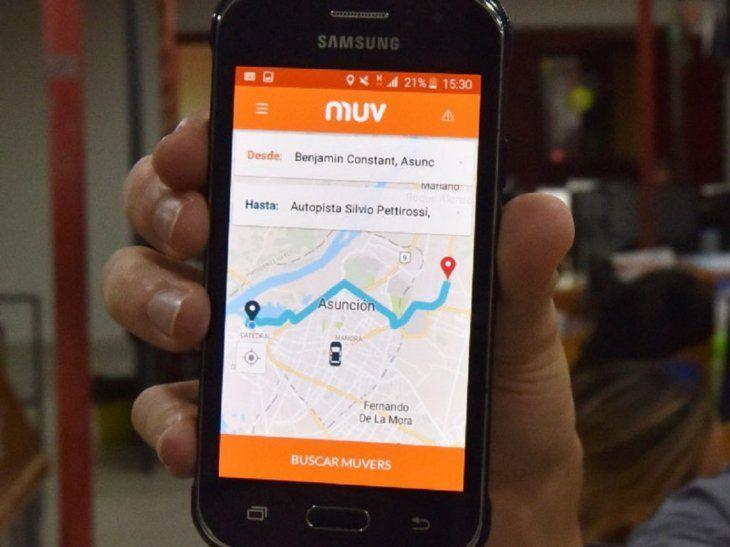 Los taxistas se oponen al funcionamiento de MUV.