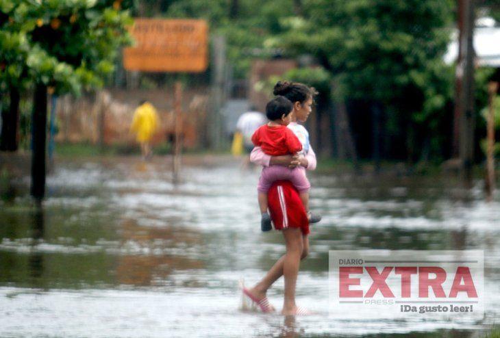 Escapando de la inundación