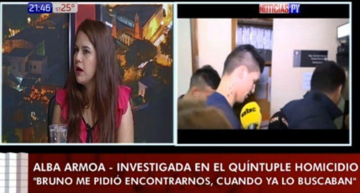 Alba Armoa dijo que vivió con Bruno Marabel por 10 días.