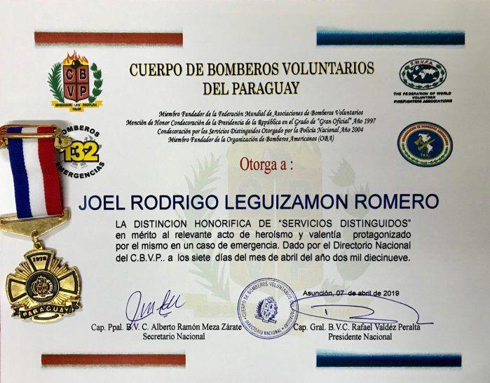 Hoy bomberos entregarán reconocimiento a Joelito