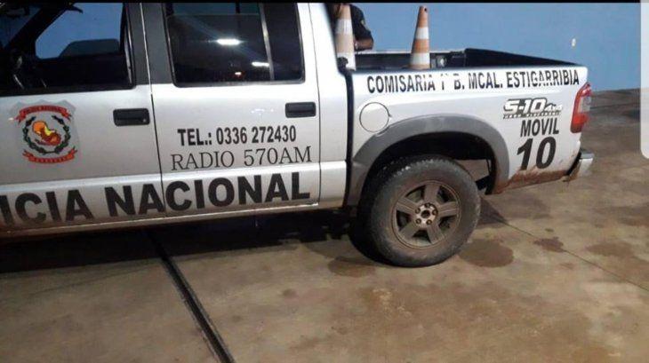 La camioneta era utilizada por agentes de la comisaría Primera como patrullera.