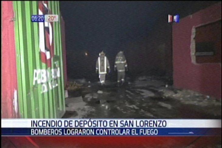 El incendio se registró en un depósito que lleva meses cerrado.