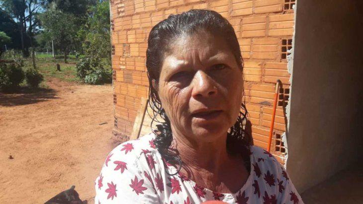 Cayetana Ríos (55) sufrió una tremenda golpiza.