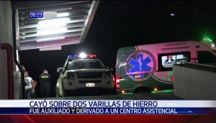 El hombre se encuentra en el Hospital de Trauma en estado delicado. Foto: Paraguay.com