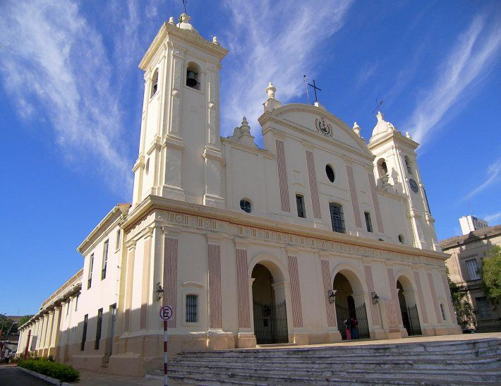 La Catedral de Asunción es muy concurrida.
