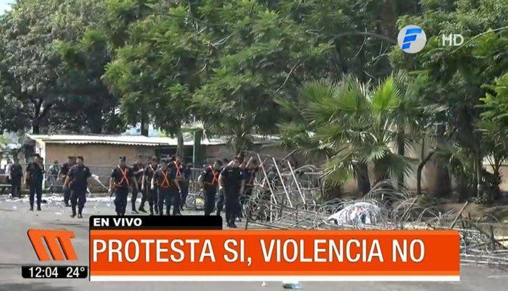 Manifestación por el desbloqueo: tres detenidos por portar arma blanca