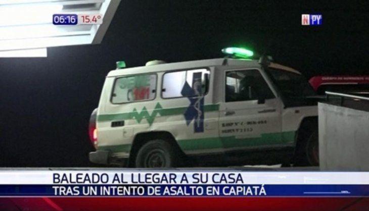 La víctima se encuentra en observación en el hospital del Trauma capitalino.