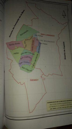 Así quedaría el nuevo distrito si se presentara y aprobara el proyecto de ley.