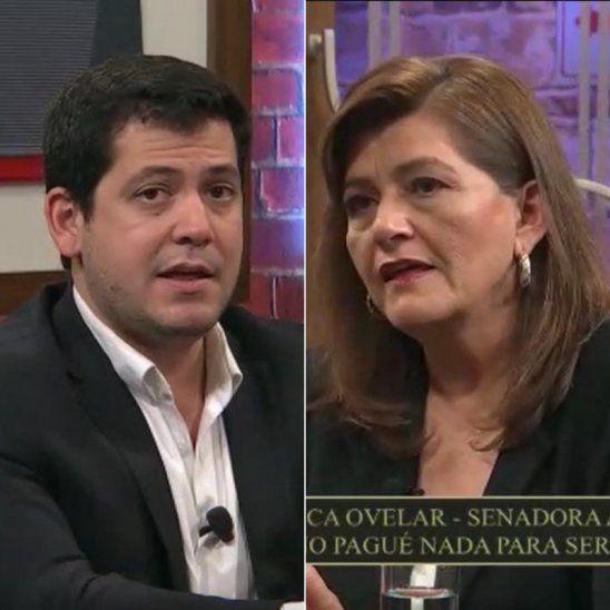 Debate. Raúl Latorre y Blanca Ovelar.