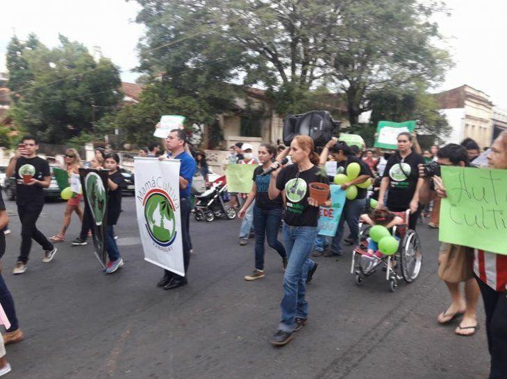 Tercera marcha por la legalización de la marihuana medicinal.