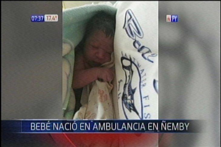 La hermosa recién nacida.