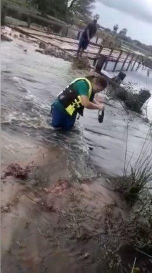 Enfermera se arriesga para asistir a pacientes en el Chaco