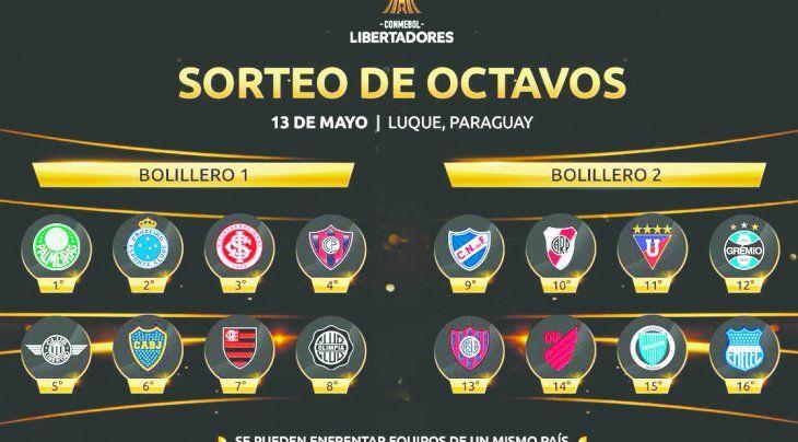 En el Bolillero 1 están: Palmeiras