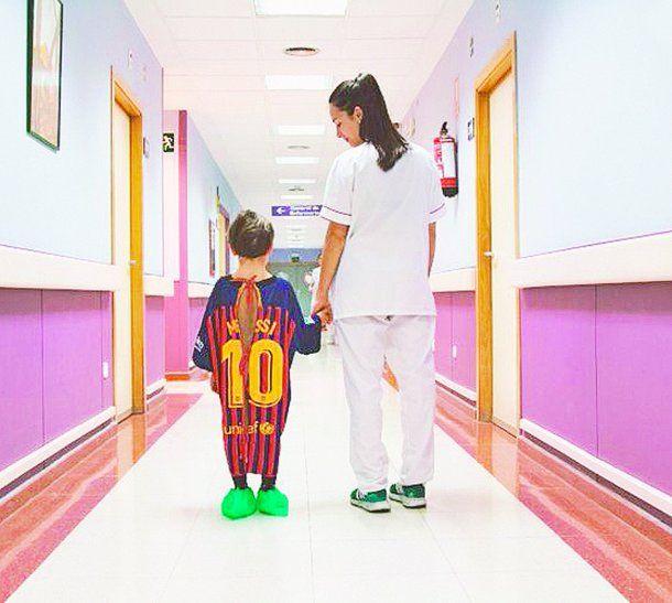 La campaña se realizó con las camisetas de Lio Messi (Barcelona)