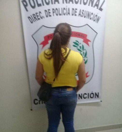 La detenida quedó a disposición del Ministerio Público.