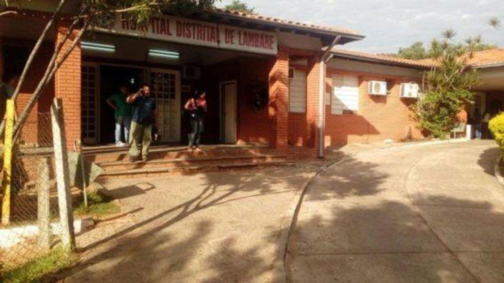 El joven fue atendido en el Hospital de Lambaré.