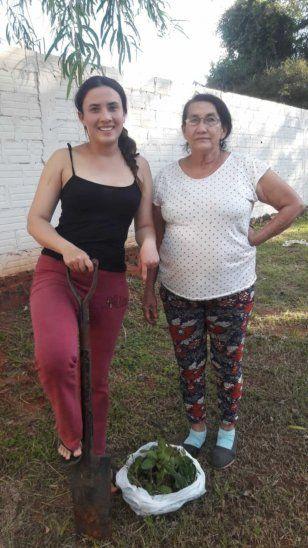 Andrea Carolina y su mamá.
