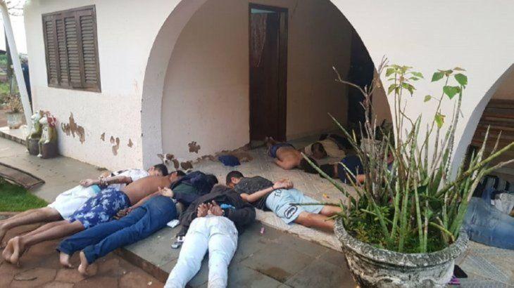 Los detenidos en Capitán Bado.